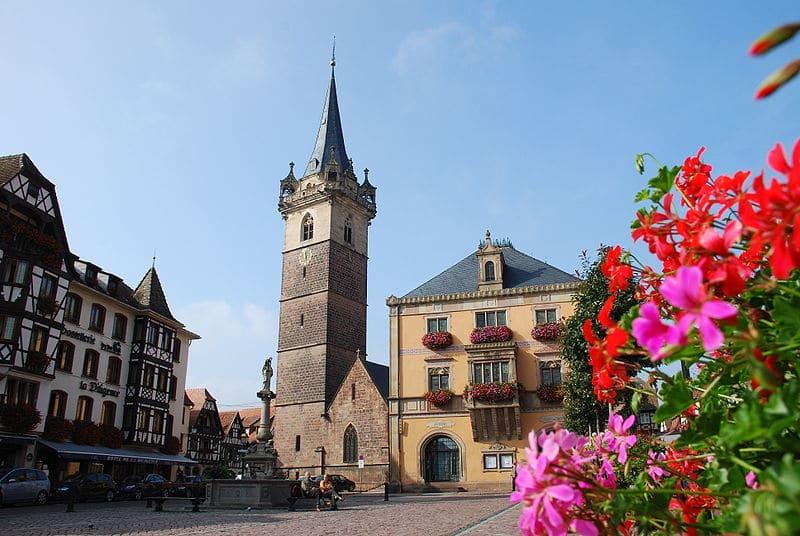 Place du marché, Obernai, Route des vins d'Alsace