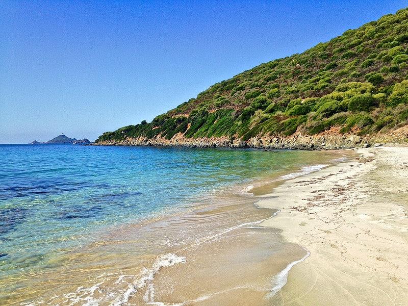 Plage sur les îles Sanguinaires, Ajaccio