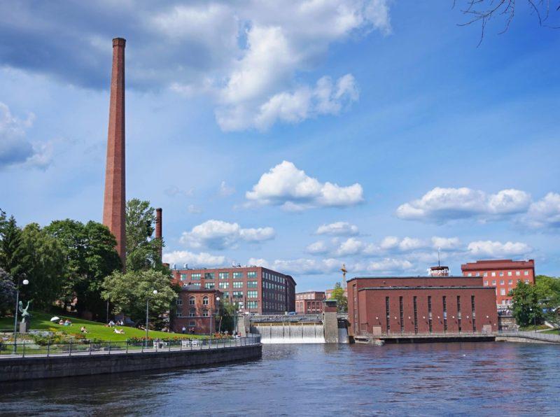 Les rapides Tammer dans le centre ville de Tampere