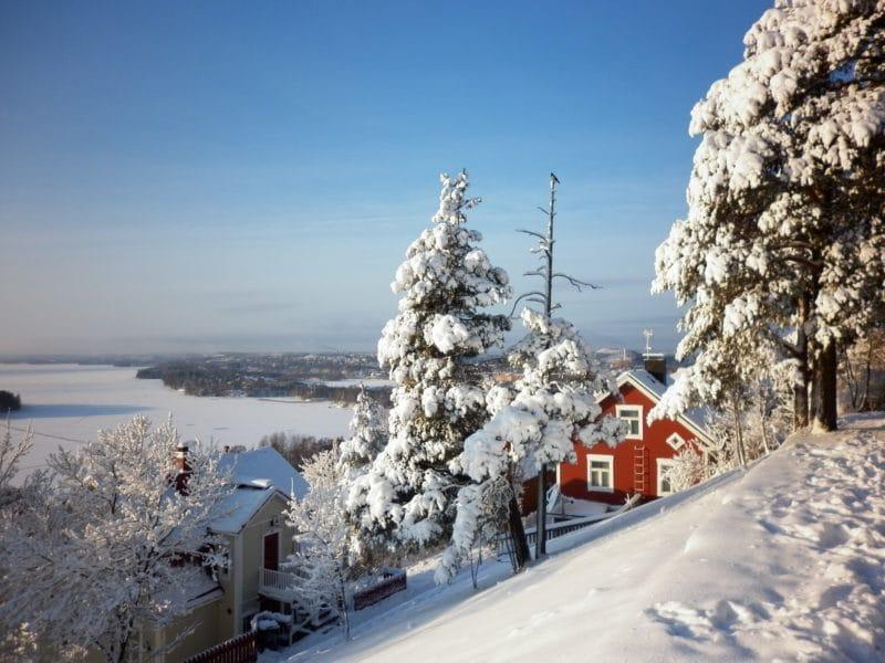 Vue du quartier Pispala à Tampere