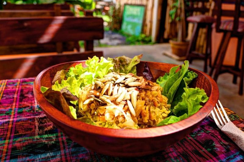 Restaurant vegan Samsara, Antigua, Guatemala