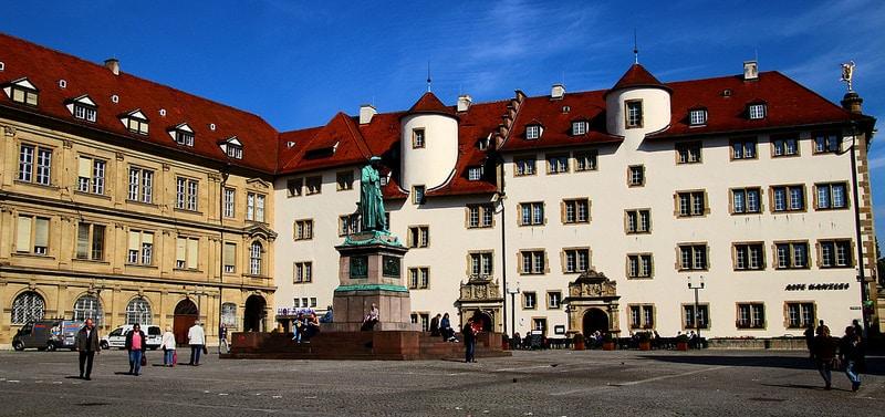 Schillerplatz, centre historique, Stuttgart
