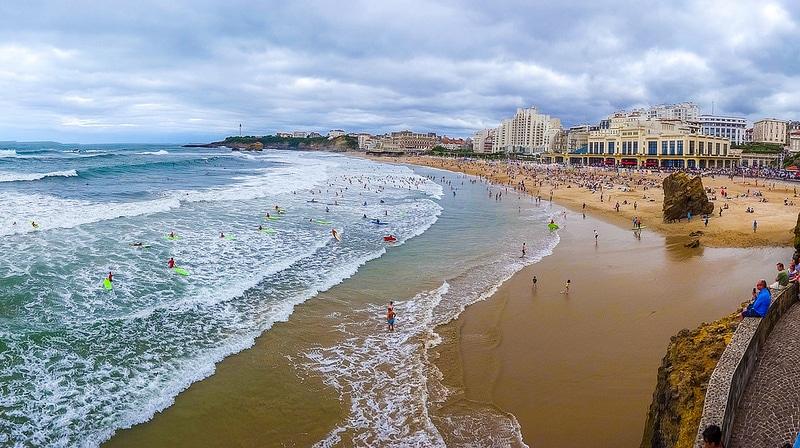 La Grande plage à Biarritz