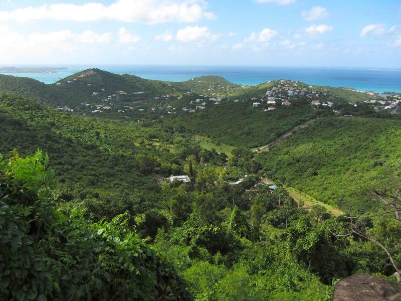 Vue du Pic Paradis à Saint Martin