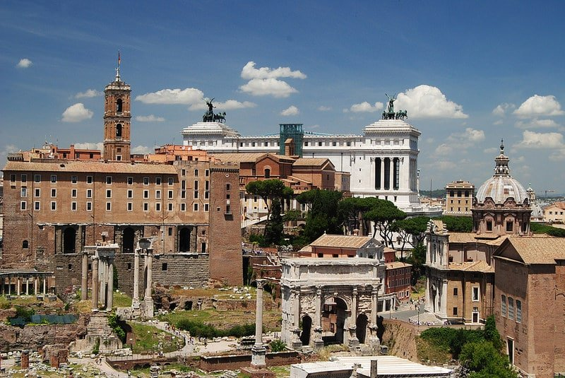 Vue depuis le Mont Palatin sur le Forum Romain