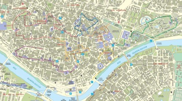 Cartes et plans détaillés de Séville