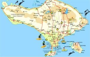 Carte Bali Chose A Voir.Les 12 Choses Incontournables A Faire A Bali