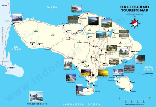 Carte Bali Chose A Voir.Cartes Et Plans Detailles De Bali