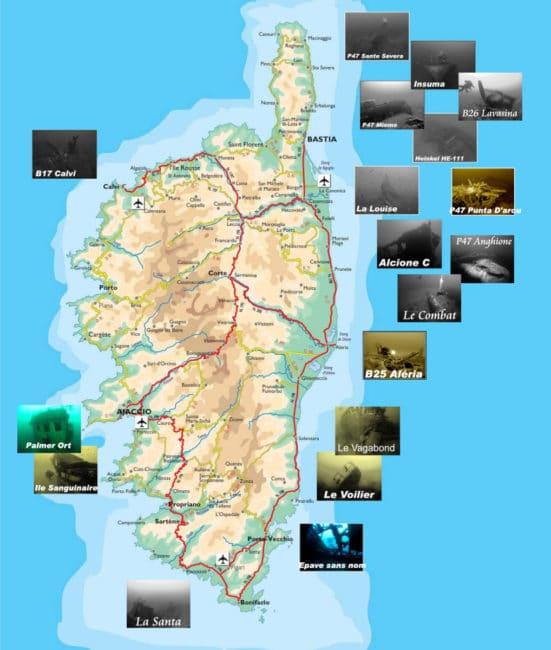 Carte Corse détaillée