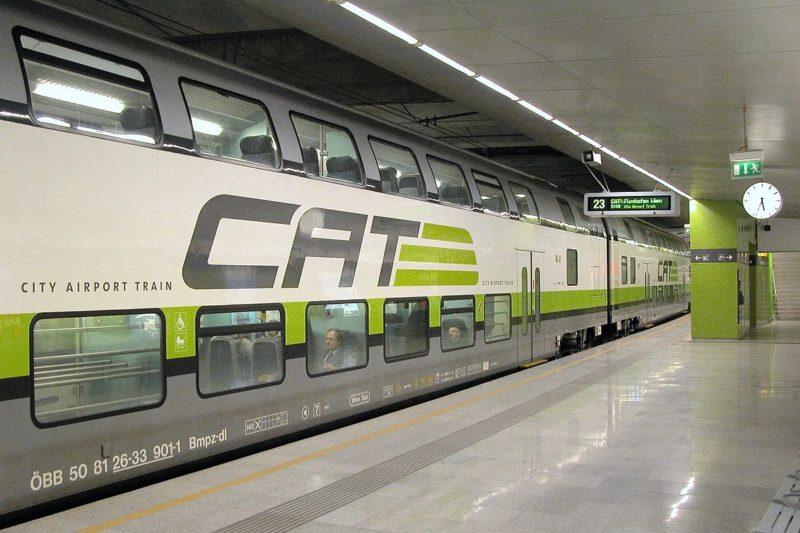 Transfert Aéroport Vienne en train