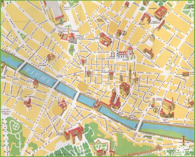 Cartes Et Plans Detailles De Florence