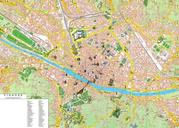 Florence carte générale ville