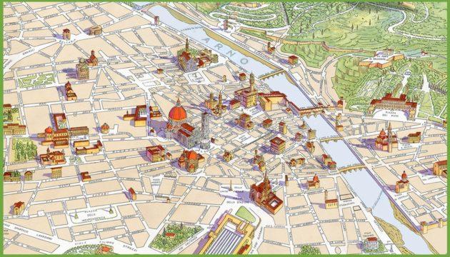 Cartes et plans détaillés de Florence
