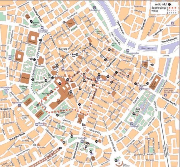 Cartes et plans détaillés de Vienne