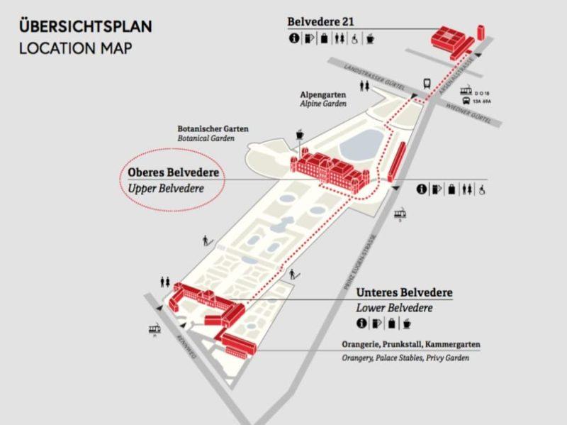 Palais du Belvédère carte