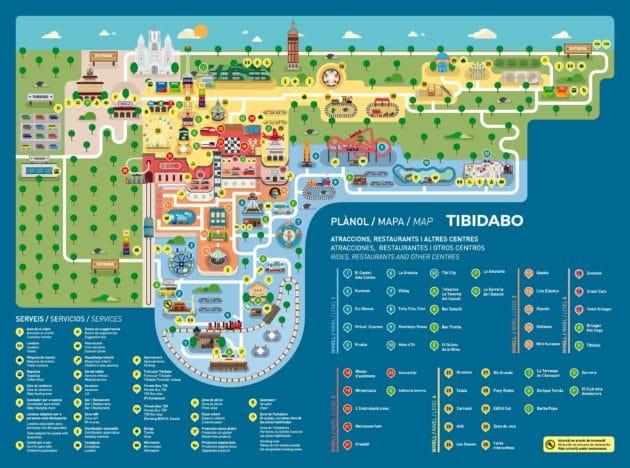 Carte parc Tibidabo