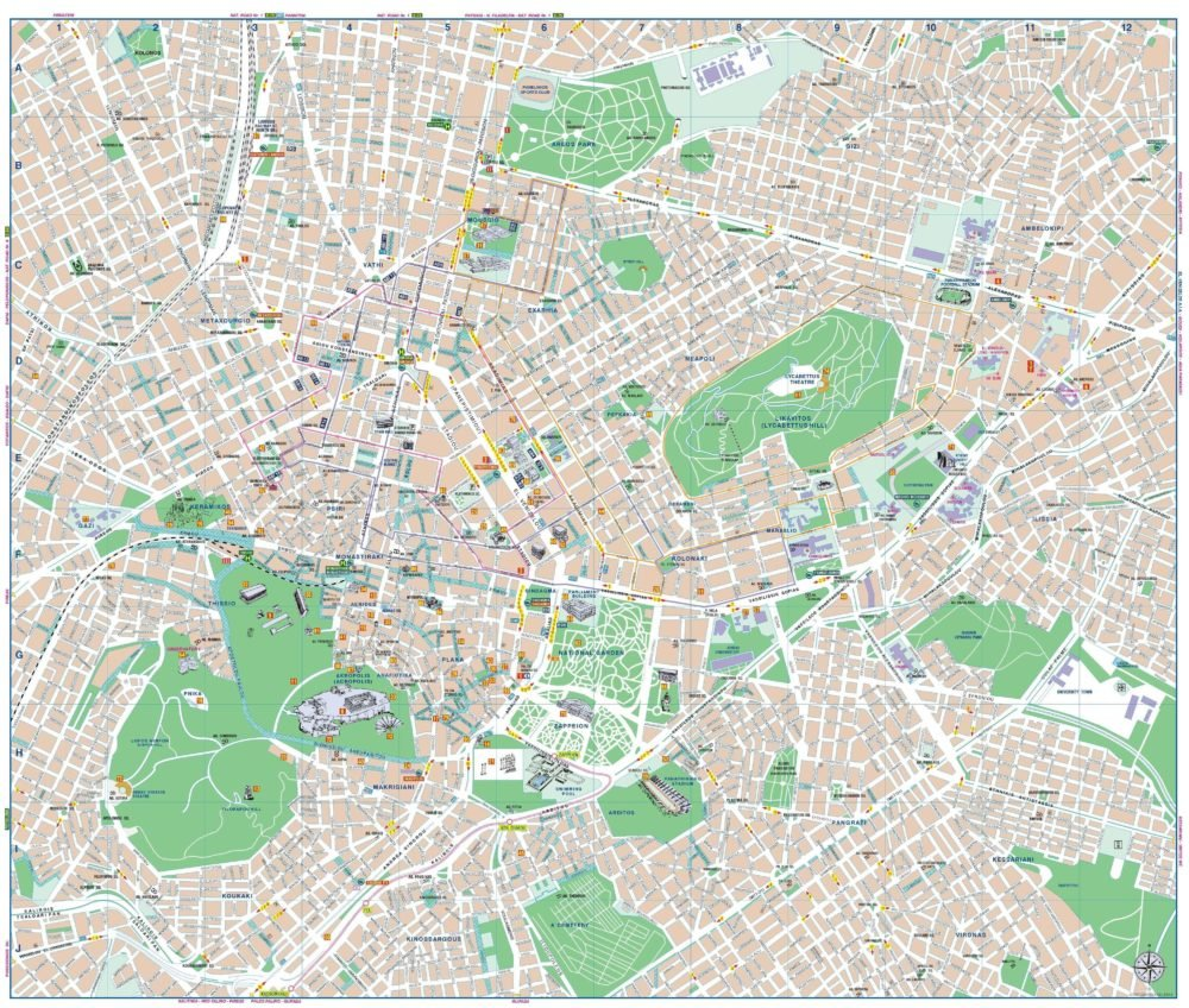 Cartes et plans d'Athènes
