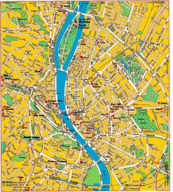 Budapest cartes plans