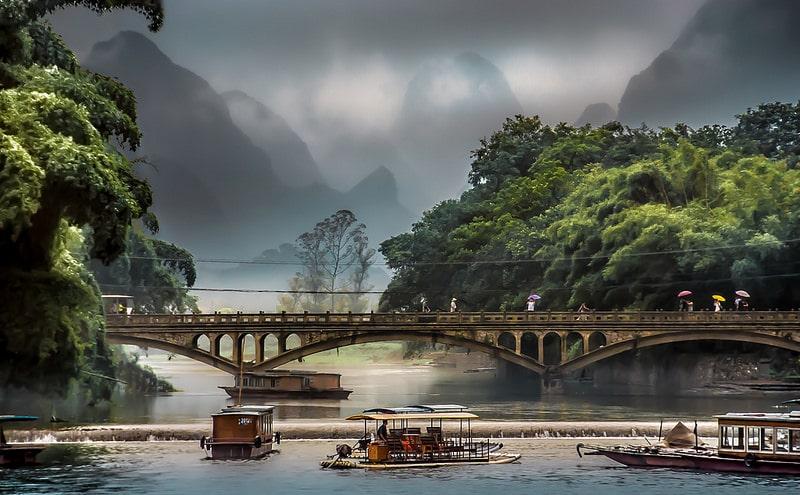 Rivière Li de Yangshuo, Guangxi