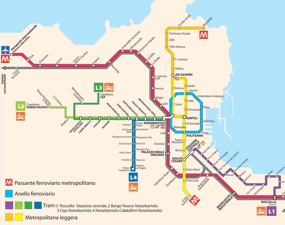 Cartina Ferroviaria Sicilia.Mappe E Percorsi Dettagliati Della Sicilia