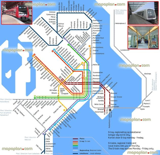 Copenhague cartes plans
