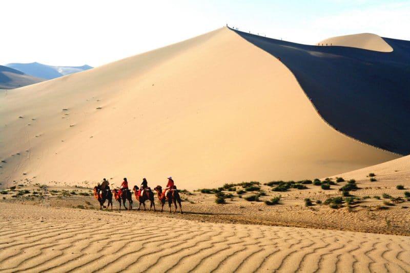 Désert, Montagne Mingsha, Gansu