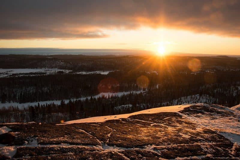 Les monts Valin, Québec
