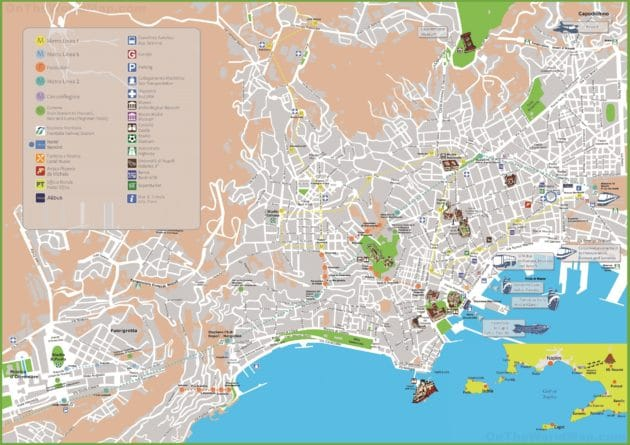 Cartes et plans de Naples