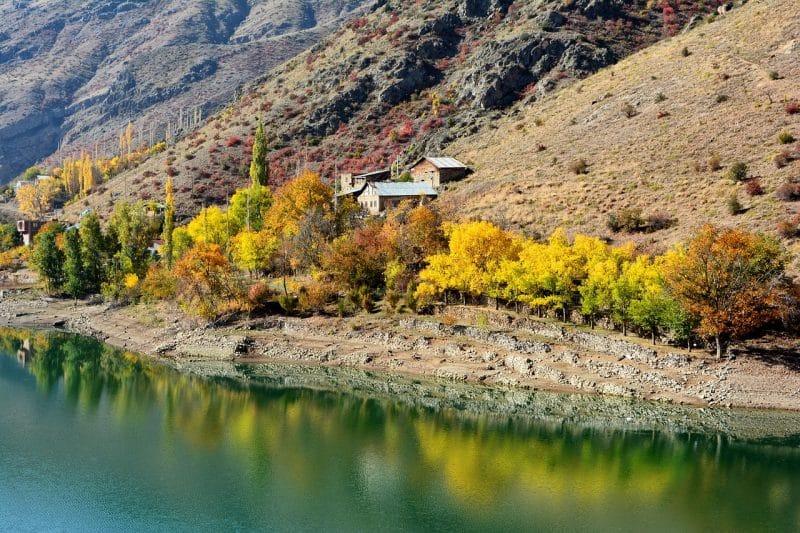 Rivière Çoruh, Erzurum, Turquie