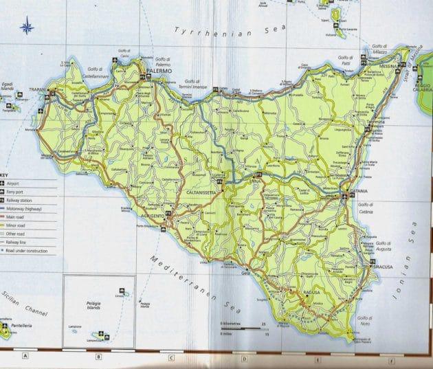 Cartes et plans de Sicile