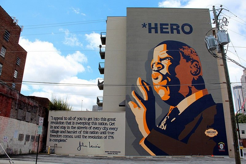 John Lewis Mural, Sweet Auburn, Atlanta