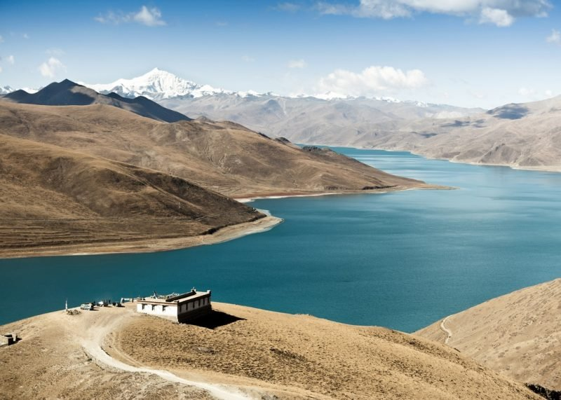 Lac Yamdrok Tso, Tibet