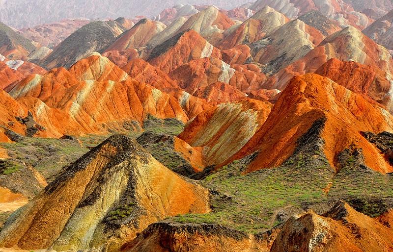 Montagnes arc-en-ciel, Zhangye Danxia