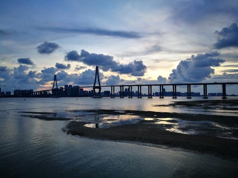 Pont Haiwan ou pont de Qingdao