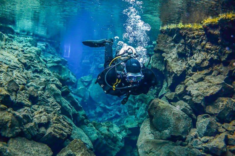Plongée dans la faille de Silfra, Islande