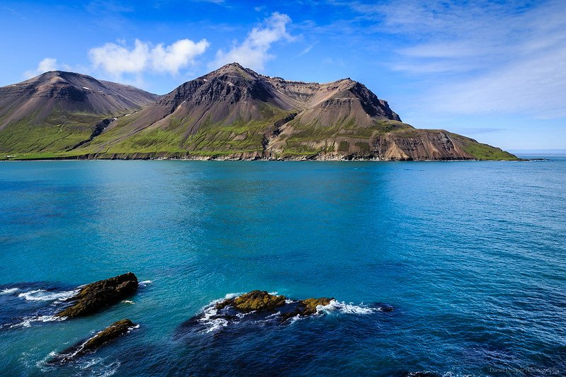 Fjord de Borgarfjördur, Islande