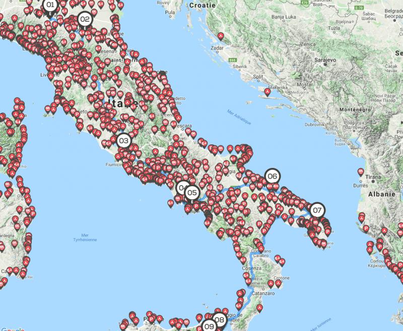Italie itinéraire