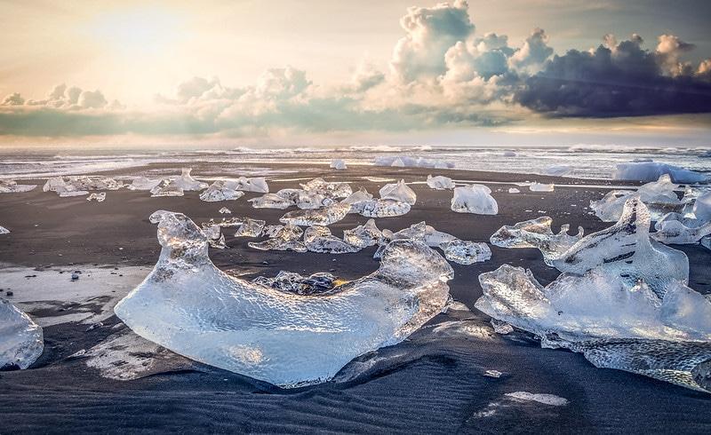 Lagune glaciaire Jökulsárlón, Islande