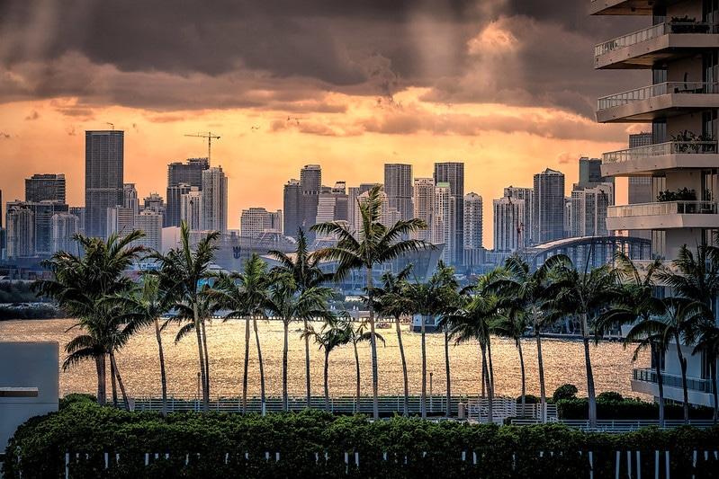 Sunset, Miami Downtown