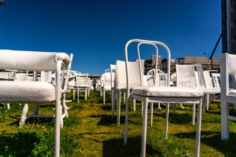 185 Empty White Chairs, Christchurch