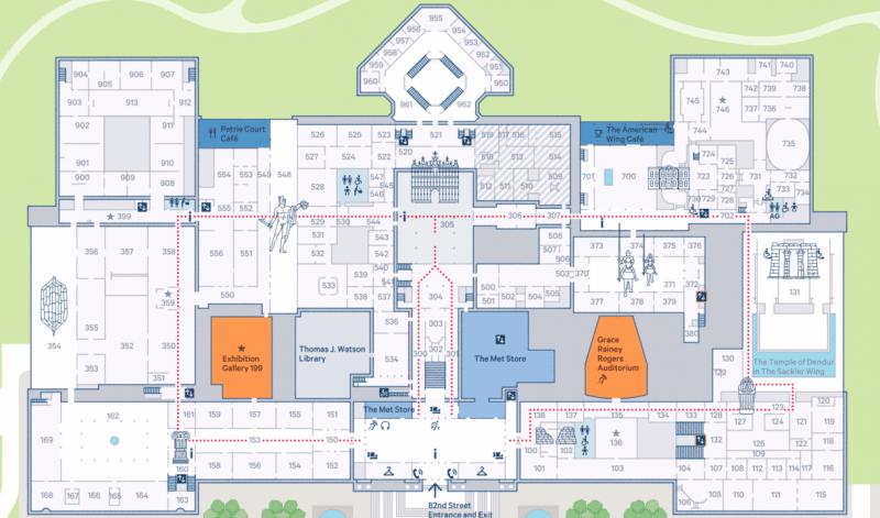Plan Metropolitan Museum of Art, New York