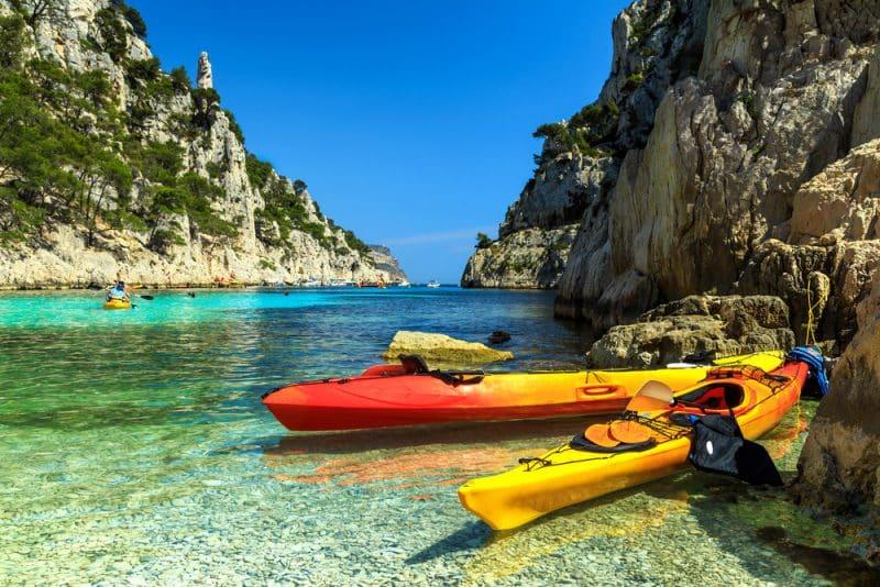 Faire du kayak dans les Calanques