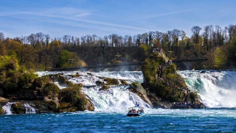 Les chutes du Rhin, Suisse