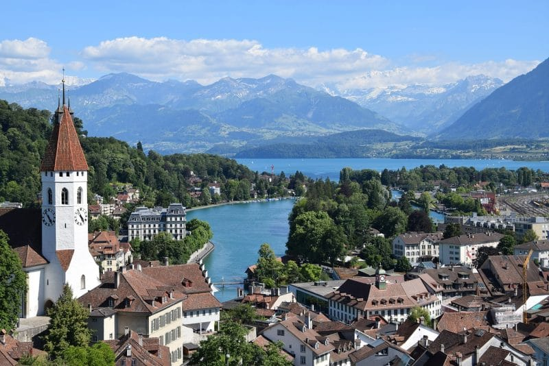 Lac de Thoune, Suisse