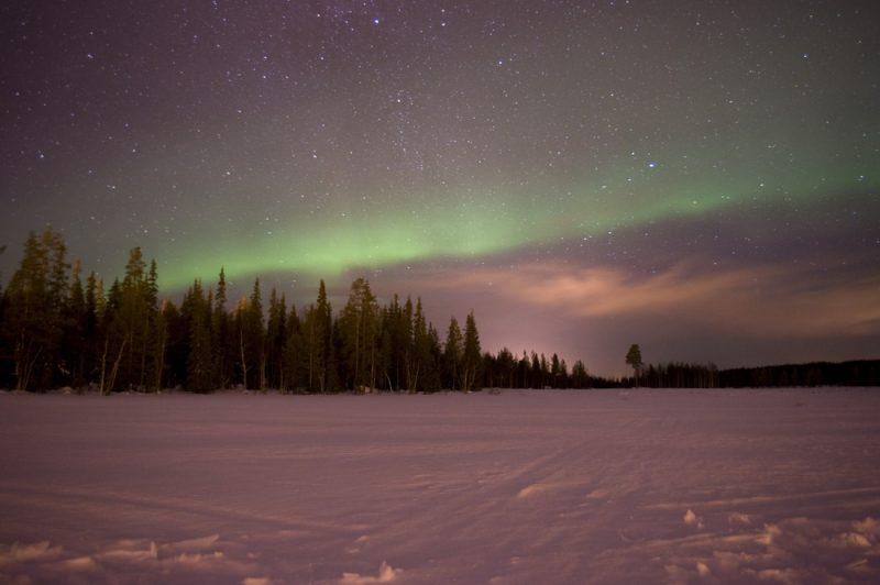Aurores boréales, Luosto, Finlande