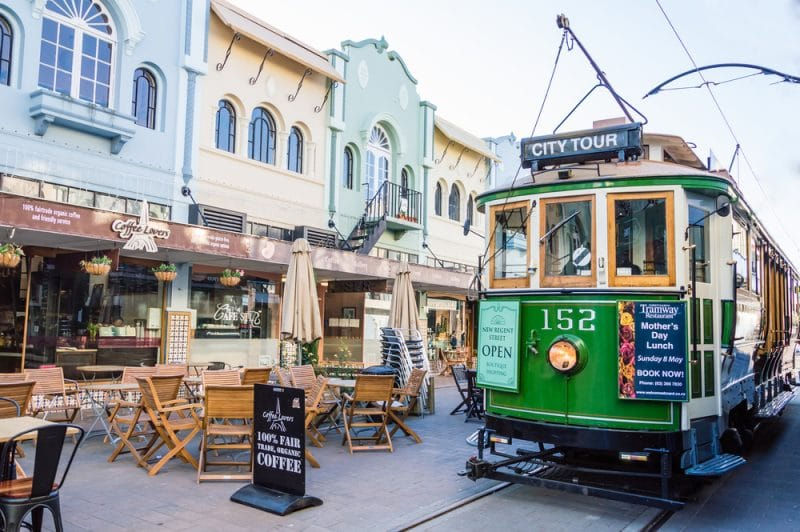 Tramway City Tour, New Regent Street, Christchurch, Nouvelle-Zélande