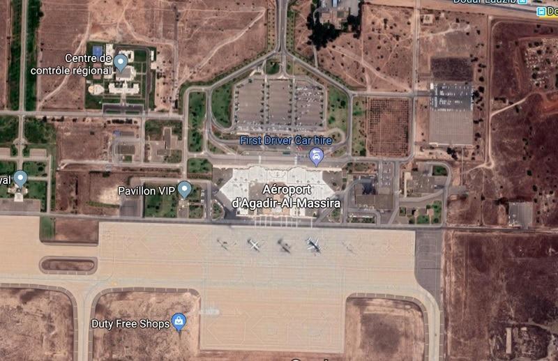 Plan des parkings de l'aéroport d'Agadir