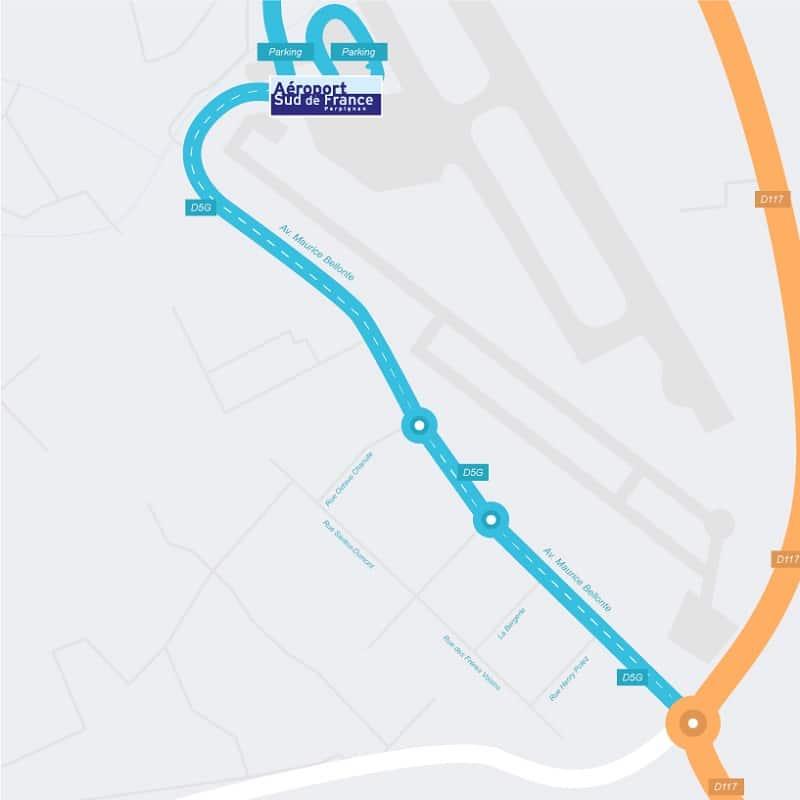 Plan des parkings de l'aéroport de Perpignan