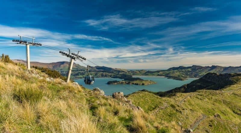 Téléphérique aux pentes de Port Hills, Christchurch