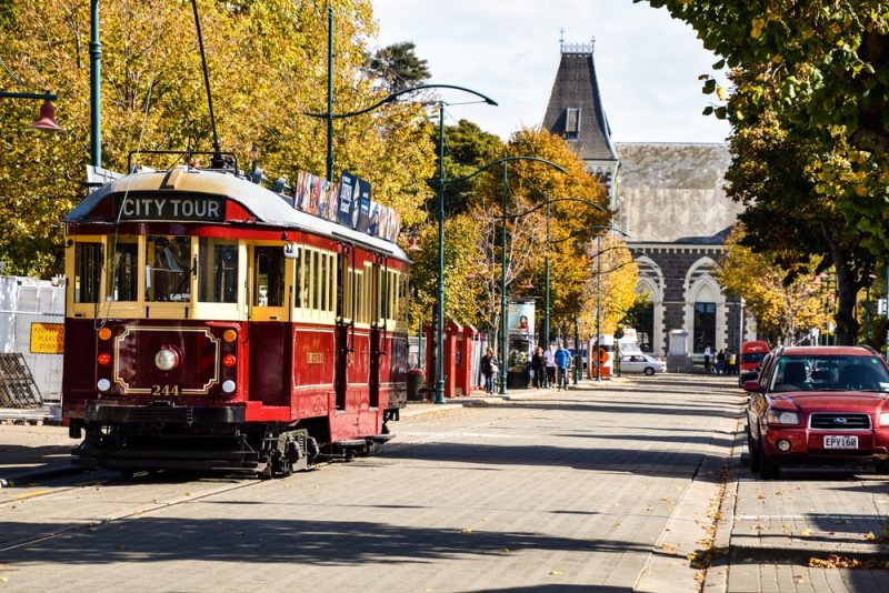 Tour de tramway à Christchurch